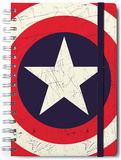 Captain America Lined A5 Notebook with Envelope Diario