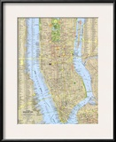 1964 Tourist Manhattan Map Poster by  National Geographic Maps