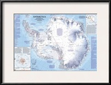 1987 Antarctica Map Pôsters por  National Geographic Maps