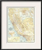 1954 California Art by  National Geographic Maps