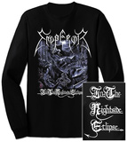 Long Sleeve: Emperor- In The Nightside Eclipse (Front/Back) T-shirt a maniche lunghe