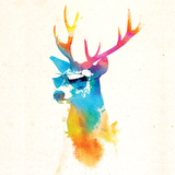 Robert Farkas- Deer With Glasses Pôsters por Robert Farkas