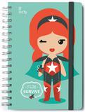 Li'l Leddy Lined A5 Notebook with Envelope Notatbok