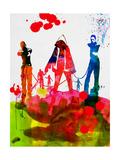 Michonne Watercolor Giclée-Premiumdruck von Lora Feldman