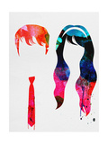 500 Days Watercolor Kunstdrucke von Lora Feldman