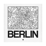 White Map of Berlin Pôsters por  NaxArt