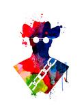 Django Watercolor Premium gicléedruk van Lora Feldman