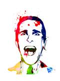 American Psycho Watercolor Kunstdrucke von Lora Feldman