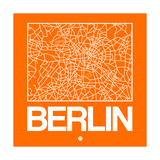 Orange Map of Berlin Arte por  NaxArt