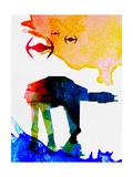 Star Ground Warrior Watercolor Kunstdrucke von Lora Feldman
