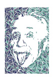 Albert Einstein Print by Cristian Mielu
