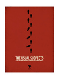 Filmposter The Usual Suspects, 1995, Engelse tekst Affiches van David Brodsky