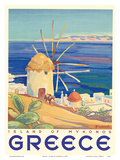 Greece - Island of Mykonos Plakater af  Pacifica Island Art