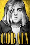 Kurt Cobain Nirvana Illustration Pósters por  Lynx Art Collection