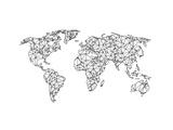 World Wire Map 2 Posters par  NaxArt