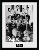 The Beatles- Instruments Ready Reproduction encadrée pour collectionneurs