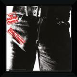 The Rolling Stones - Sticky Fingers Framed Album Art Reproduction encadrée pour collectionneurs