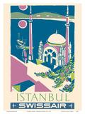 Istanbul, Turkey - Swissair - Ortakoy Mosque Kunstdrucke von Henri Ott