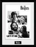 The Beatles- Let It Be Collage Reproduction encadrée pour collectionneurs