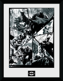 Batman- Black & White Collage Samletrykk