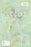 Mapa vinícola de Alemania Lámina