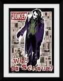 Batman Dark Knight- Joker Headlines Lámina de coleccionista