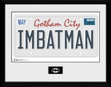 Batman- I Am Batman License Plate Sammlerdruck