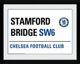 Chelsea- Street Sign Samletrykk