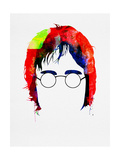 John Watercolor Print by Lora Feldman