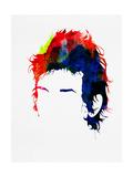 Dylan Watercolor Kunst von Lora Feldman