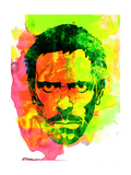 Dr. Gregory House Watercolor Posters by Lora Feldman