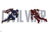 Captain America: Civil War - Captain America Vs Iron Man. Choose a Side Print