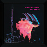 Black Sabbath - Paranoid Framed Album Art Reproduction encadrée pour collectionneurs