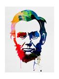 Abraham Lincoln Watercolor Plakater av Lora Feldman