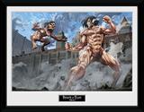 Attack On Titan- Titan Fight Lámina de coleccionista
