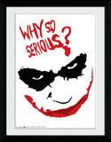 Batman Dark Knight- Joker Why So Serious Reproduction encadrée pour collectionneurs