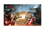 Captain America: Civil War - Captain America Vs Iron Man. Choose a Side Kunstdrucke