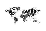 Typography World Map 5 高品質プリント : NaxArt(ナックスアート)