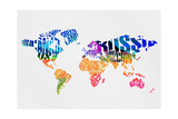 Typography World Map 7 Posters by  NaxArt