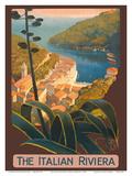 The Italian Riviera - Portofino, Italy Poster di Mario Borgoni