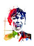Psycho Watercolor Posters av Lora Feldman