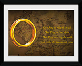 Lord Of The Rings- The One Ring Reproduction encadrée pour collectionneurs