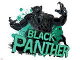 Captain America: Civil War - Black Panther Plastikskilt