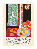 Nice, France - Travail et Joie (Work and Joy) - Still Life with Pomegranates Premium Giclee-trykk av Henri Matisse