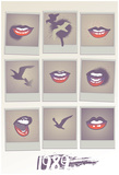 1989 Lips Grid Posters