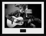 Ed Sheeran- Striking A Chord Reproduction encadrée pour collectionneurs