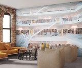 Madern library Wall Mural Tapettijuliste