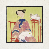 Two Cats Giclee Print by Hu Yongkai