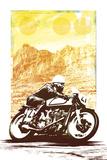 Motorbike Giclée-vedos tekijänä Hens Teeth