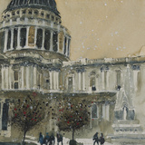 St. Paul's Cathedral, Late Autumn Giclee Print by Susan Brown